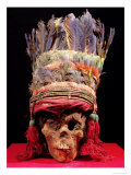 Feathered Headdress on a Skull, from Peru Giclee Print by Nazca Culture
