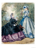 Afternoon Dress for Women, 1863 Giclee Print by Heloise Leloir
