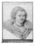 Portrait of Magdeleine de Souvre Marquise de Sable, 1621 Giclee Print by Daniel Dumonstier