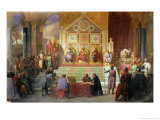 Assembly of Crusaders in Ptolemais in 1148, 1840 Giclee Print by Charles Alexandre Debacq