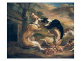 The Dog Fight, 1678 Giclee Print by Juriaen Jacobsz