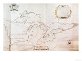 Map of the Great Lakes Giclee Print by  Jolliet