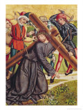 The Carrying of the Cross Giclee Print by Michael Wolgemut Or Wolgemuth