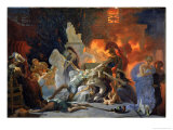 The Death of Priam, circa 1817 Premium Giclee Print by Pierre Narcisse Guérin