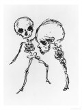 "Skeletons, Illustration from ""Complainte de L'Oubli et des Morts"" Giclee Print by Jules Laforgue"
