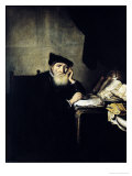 A Philosopher in His Study Giclee Print by Abraham Van Der Hecke