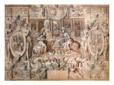 Tournament on the Occasion of the Marriage of Catherine de Medici and Henri II in 1533 Giclee Print by Antoine Caron