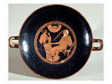 Attic Red-Figure Cup Depicting Phoenix and Briseis, Achilles' Captive, circa 490 BC Giclee Print by  Brygos Painter