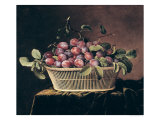 Basket of Plums Giclee Print by Pierre Dupuis