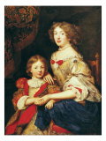 A Woman and Her Son Giclee Print by Pierre Mignard