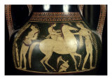 Attic White-Figure Amphora Depicting Amazons Preparing for Battle, circa 525-520 BC Giclee Print by  Andokides