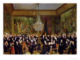 The Salon of Alfred Emilien, Comte de Nieuwerkerke at the Louvre, 1855 Giclee Print by Francois Auguste Biard