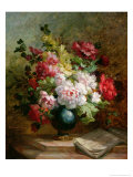 Still Life with Flowers and Sheet Music Giclee Print by Emile Henri Brunner-lacoste