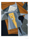 "The Guitar, Illustration for the Poem ""Au Soleil Du Plafond"", by Pierre Reverdy 1955 Giclee Print by Juan Gris"