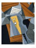 "The Guitar, Illustration for the Poem ""Au Soleil Du Plafond"", by Pierre Reverdy 1955 Giclee Print by Juan Gris"