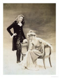 Nathalie Clifford Barney and Renee Vivien Late 19th Century Giclee Print by  Otto Studio