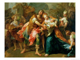 Hector Bidding Farewell to His Son and Andromache Premium Giclee Print by Jean Bernard Restout