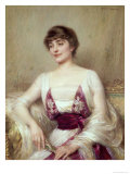 Portrait of a Countess Giclee Print by Albert Lynch