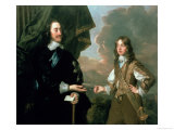 Charles I and James, Duke of York, circa 1647 Giclee Print by Sir Peter Lely