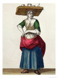 The Cheese Crier, End 17th Century Giclee Print by Jean Baptiste Bonnart