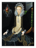 Portrait of Adriana Van Nesse, 1611 Giclee Print by Salomon Mesdach