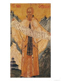 Icon of St. Sabas of Jerusalem, 1572 Giclee Print by  Longin