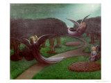 Angels in the Night, 1896 Reproduction procédé giclée par William Degouve De Nuncques