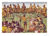 How the Inhabitants of Florida Made Decisions on Important Matters Giclee Print by Jacques Le Moyne