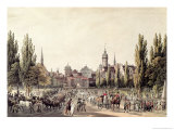 View of Leipzig from the Grimma Gate Giclee Print by Christian Gottlob Hammer