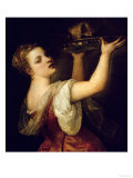 Salome Carrying the Head of St. John the Baptist, circa 1549 Giclee Print by  Titian (Tiziano Vecelli)