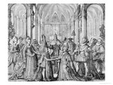 Double Marriage of Louis XIII to Anne of Austria and Philip of Austria to Elizabeth of France 1615 Giclee Print by Nicolas De Mathoniere