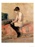 Nude Woman Seated on a Divan, 1881 Giclee Print by Henri de Toulouse-Lautrec