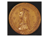 Medal Depicting Anne of Brittany Duchess of Brittany, 1498-1514 Giclee Print by Nicolas Le Clerc