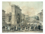Entrance of Louis XVIII Through the Porte Saint-Denis, 1814 Giclee Print by Nicolas Joseph Vergnaux