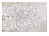 Map of the St. Lawrence Estuary Giclee Print