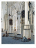 Church Interior Giclee Print by Emanuel de Witte