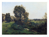 View from Moncel-Sur-Seine, circa 1868 Giclee Print by Henri-Joseph Harpignies