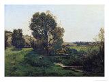 View from Moncel-Sur-Seine, circa 1868 Premium Giclee Print by Henri-Joseph Harpignies