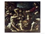 The Resurrection of Lazarus, circa 1619 Premium Giclee Print by  Guercino (Giovanni Francesco Barbieri)