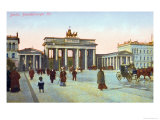 Postcard Depicting the Brandenburg Gate in Berlin, Pre 1914 Giclee Print