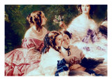 Empress Eugenie and Her Ladies in Waiting, Detail of the Princess of Essling Giclee Print by Franz Xavier Winterhalter