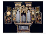 Choir Organ with Open Panels Premium Giclee Print