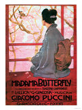 "Frontispiece of the Score Sheet for ""Madame Butterfly"" by Giacomo Puccini Reproduction procédé giclée"