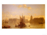 Shipping on the Thames at Greenwich Giclée-Druck von David Roberts