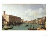 The Grand Canal from the Rialto Bridge Giclee Print by Canaletto