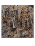 Benin Plaque with Two Warriors, Nigeria, 16th-17th Century Giclee Print