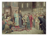Council Calling Michael F. Romanov to the Reign, 1880 Giclee Print by Aleksei Danilovich Kivshenko