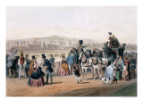 Racecourse at the Bois de Boulogne Giclee Print by Eugene Von Guerard