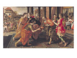 Laban Presenting Eliezer to His Father, 1562 Reproduction procédé giclée par Maarten de Vos