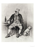 "Bill Sikes and His Dog, from ""Charles Dickens: a Gossip About His Life"" Giclee Print by Frederick Barnard"